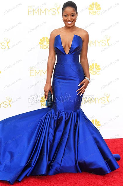 Keke Palmer Vestido Azul Sexual de Emmy Awards (cm1409)