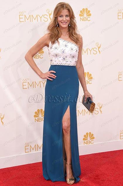 Custom Made Anna Gunn 66th Emmy Awards Stunning Gown (cm1415)