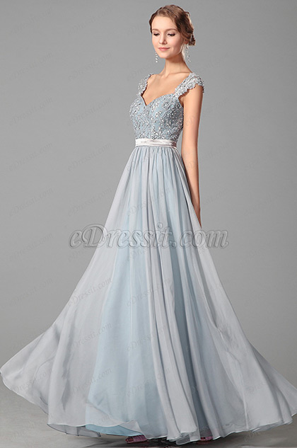 eDressit Elegant Beaded Lace Straps Evening Dress Prom Gown (00151032)