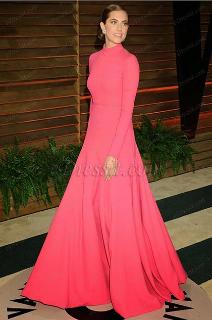 Custom Made Alison Williams London Fashion Week Pink Gown (cm1401)