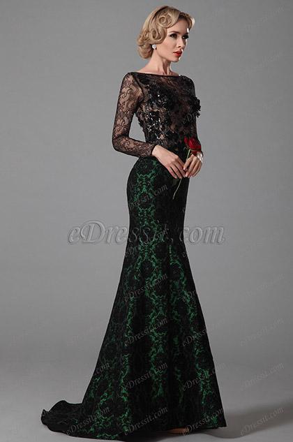 edressit lange rmel abendkleid ballkleid formal kleid. Black Bedroom Furniture Sets. Home Design Ideas
