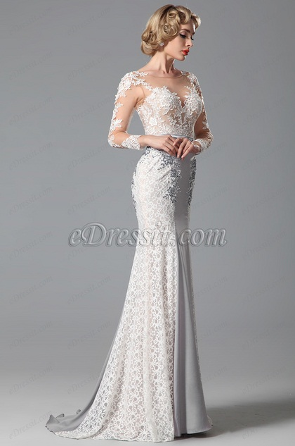 eDressit Applique Long Sleeves Evening Dress Formal Gown (02150808)