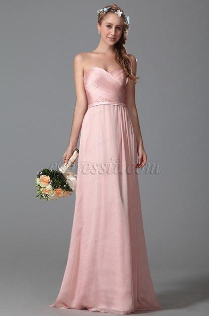 eDressit Vestido de Dama de Honor de Corazón Rosado(07150101)
