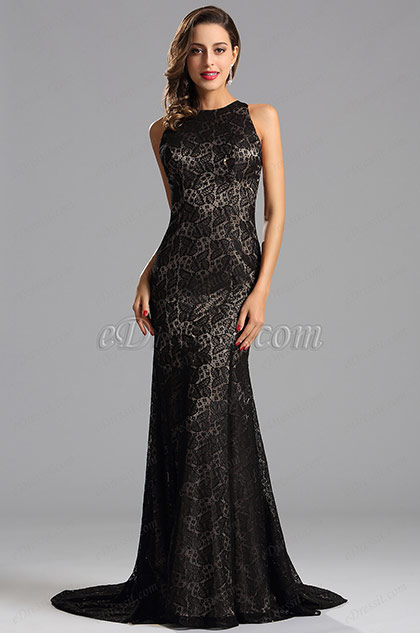 Sleeveless Long Coffee Formal Dress Evening Gown (X00155220)