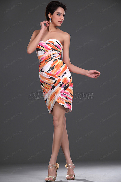 Pleated Cocktail Dress Party Dress (H04115668)