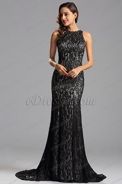 Sleeveless Overlace Long Formal Dress Evening Dress (X00155226)
