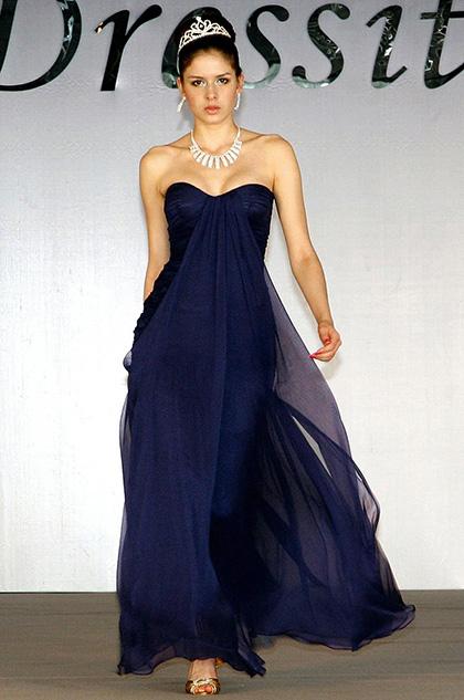 Strapless Sweetheart Blue Formal Dress Evening Dress (H00094705)