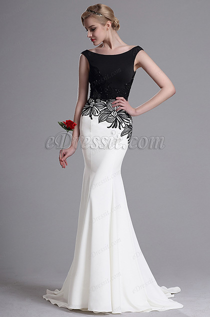 eDressit Sleeveless Embroidery Floral Mermaid Prom Dress(02163307)