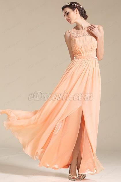 Elegantes Ärmelloses Rosa Brautjungfernkleid Abendkleid (07152901)