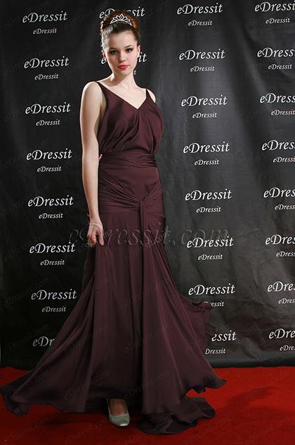 Coffee Formal Dress Evening Dress (H00082404)