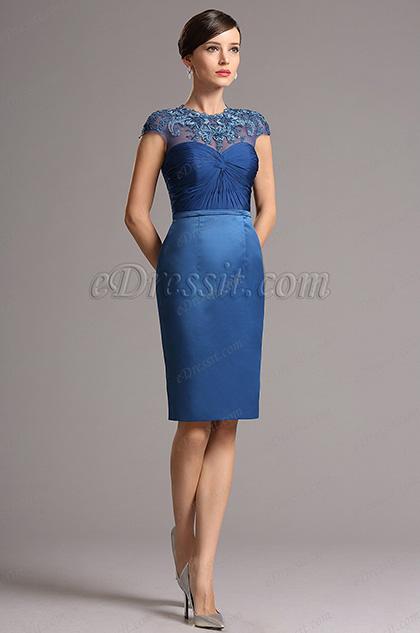 eDressit Кружевное Коктейльное Платье с Вышивками (26162105)