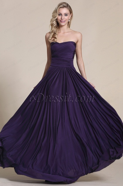 Convertible Elegant Purple Evening Dress Bridesmaid Dress (07154706)