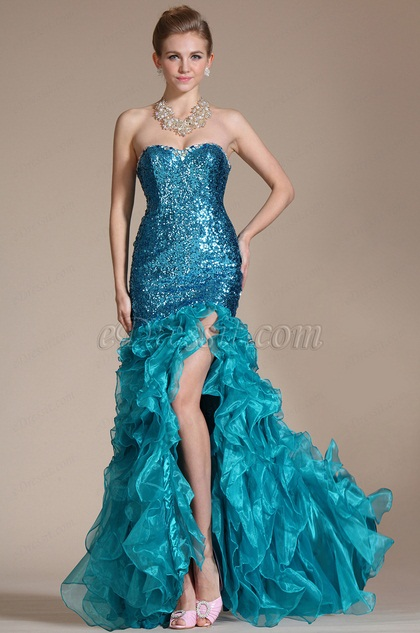 Sweetheart Mermaid High Split Evening Dress(C36140905)