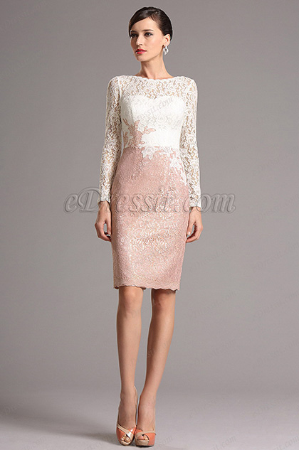 eDressit Long Sleeves Lace Mother of the Bride Dress (26161201)