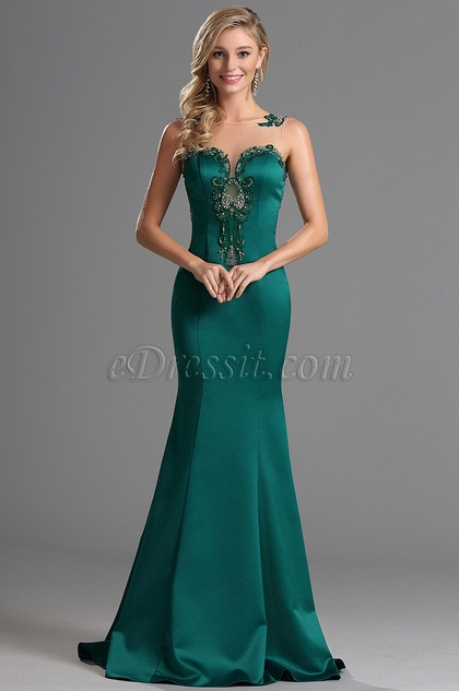 Sleeveless Sweetheart Neck Beaded Prom Gown Evening Dress(00162905)