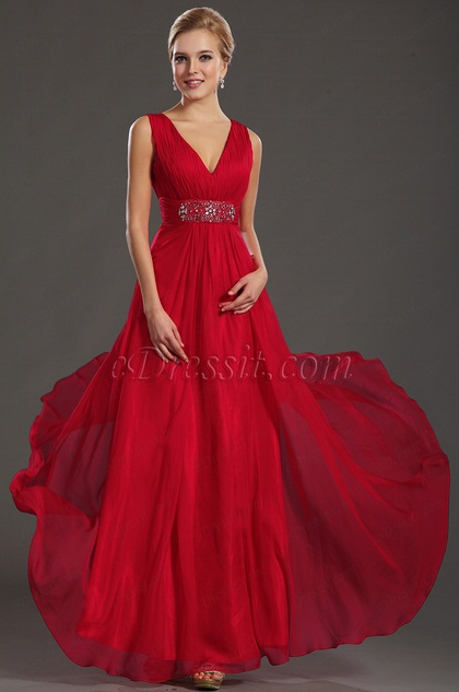 eDressit Sexy Red V-cut Formal Evening Dress (36130302)