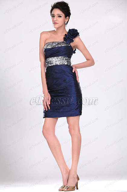 Navy Blue Party Dress Cocktail Dress (H04116005)