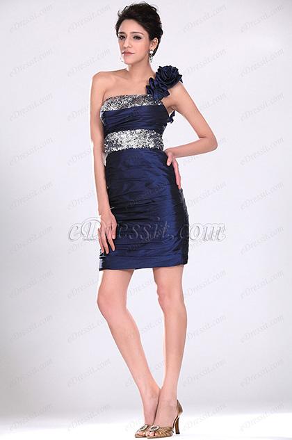 Navy Blue Party Dress Cocktail Dress (H04116005)