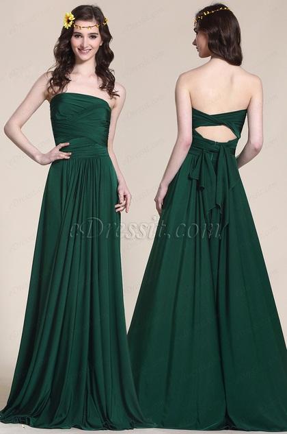 Konvertierbar Dunkel Grün Brautjungfernkleid Abendkleid (07154704)