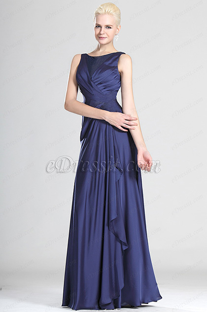 Elegant Strapless Lace Evening Dress (H00124305)