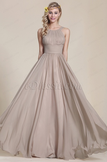 eDressit A Line Sleeveless Grey Bridesmaid Dress (07153908)