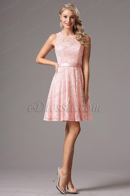 eDressit Pink Lace Party Dress Cocktail Dress (X07152601)