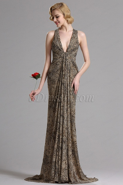 eDressit Halter Leopard Print Prom Evening Dress (X00130841)