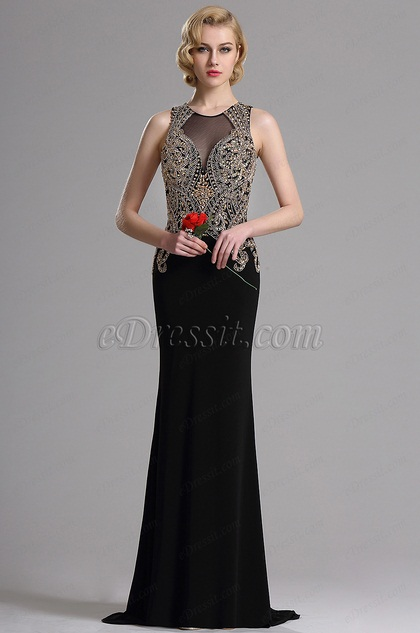 eDressit Sleeveless Beaded Mermaid Prom Evening Gown (36163200)