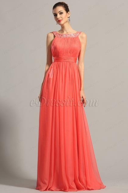 eDressit Sparkled Halter Coral Formal Dress Evening Dress (00154057)