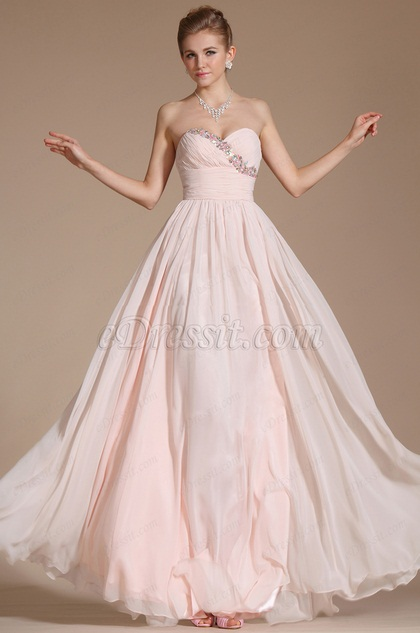 Pink Charming Sweetheart Neckline Evening Dress(C36141101)