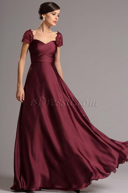 Kleid bordeaux rot lang