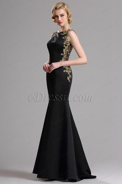 eDressit Sleeveless Golden Lace Applique Mermaid Evening Gown (X00161800)