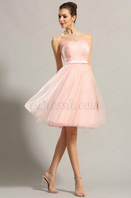 eDressit Sleeveless Sweetheart Pink Party Dress Cocktail Dress (04152201)