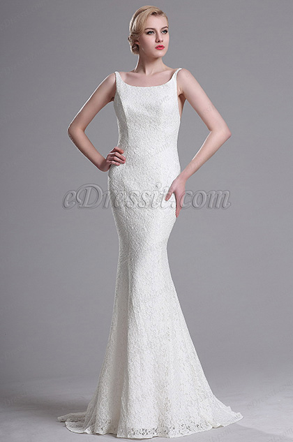 eDressit Weiß Straped Elegant Mermaid Brautkleid (X00163407-1)