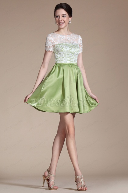 Overlace Top Cocktail Dress Day Dress (C04140904)