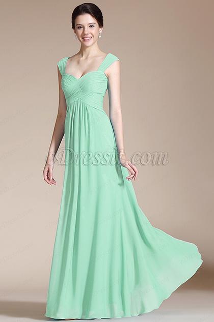 Mint Empire Waistline Bridesmaid Dress Evening Dress (07157004)