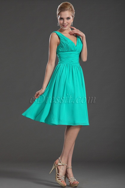 eDressit V Neck Short Bridesmaid Dress Party(35130205)