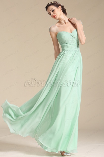 Cap Sleeves Sweetheart Formal Dress Bridesmaid Dress (07154504)
