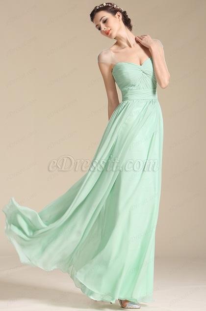 eDressit Verde Vestido de Dama de Honor Corte Corazón(07154504)