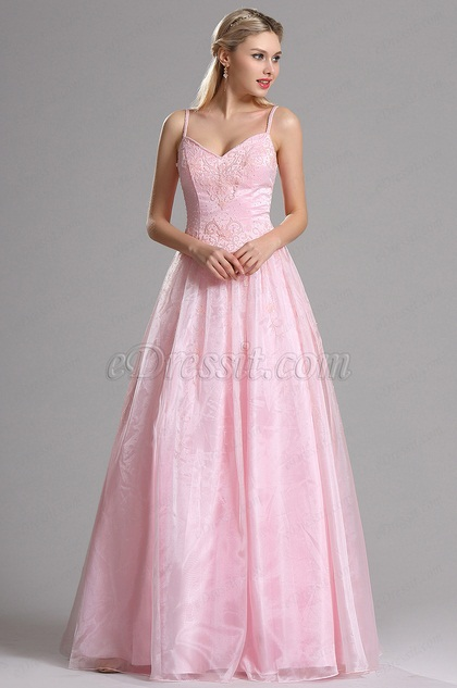 eDressit Pink Sweetheart Embroidery A-line Prom Evening Dress (00030401)