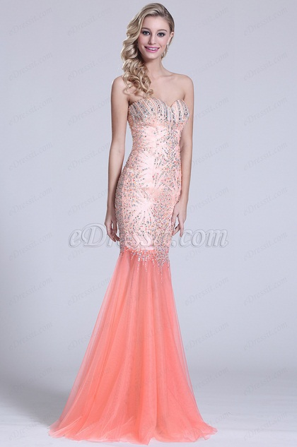 Strapless Sweetheart Prom Dress With Crystal Details (C36151010)