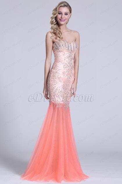 Trägerlos Süß Herz Prom Kleid mit Kristall Details (C36151010)
