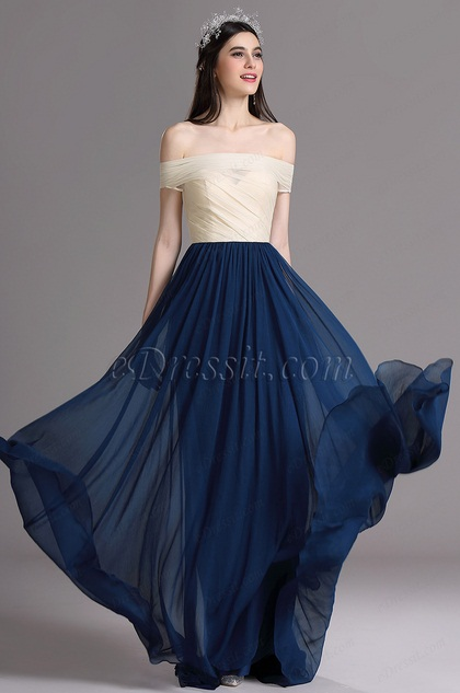 eDressit Elegant Off-shoulder Ruched Mermaid Evening Dress (W02161205)