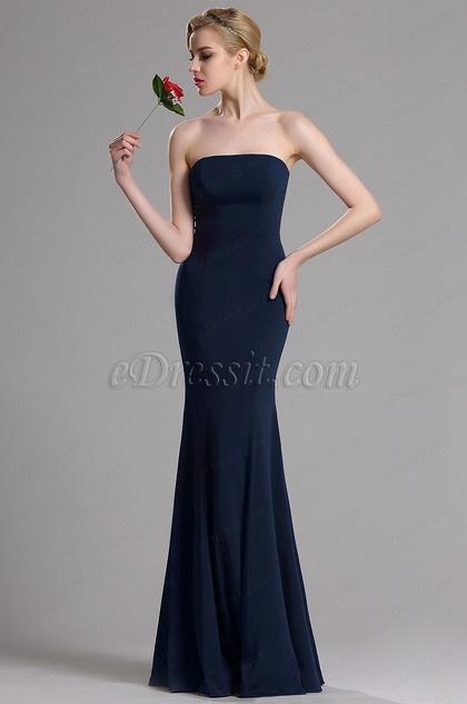 eDressit Dark Blue Strapless Evening Dress (00163605)