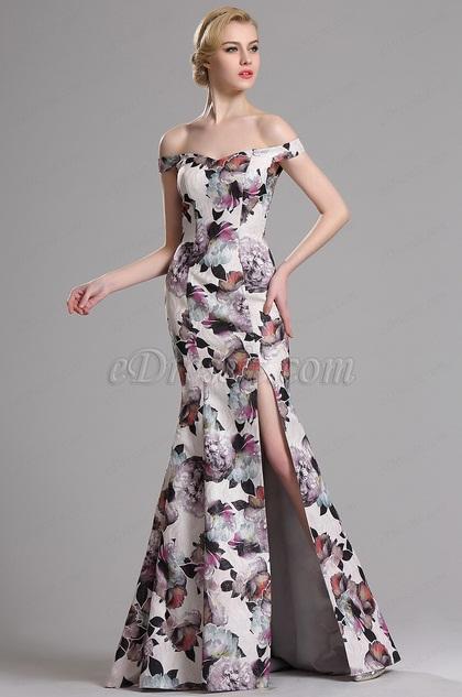 eDressit Schön Schulterfrei Printed Prom Abendkleid (00163568)