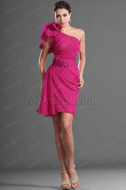 Stylish One Shoulder Cocktail Dress Party Dress (H04125012)