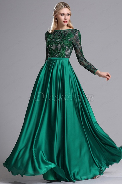 eDressit Turquoise Lace Appliques Pleated Prom Evening Dress (26162804)