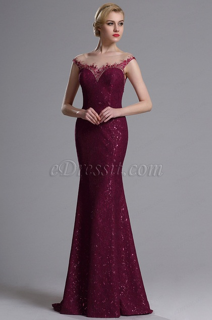 eDressit Illusion Neckline Sweetheart Mermaid Dress (02163412)