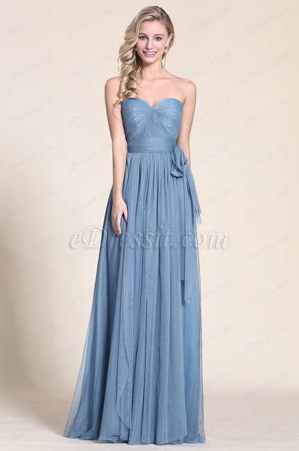 eDressit  Vestido de Dama Vestido de Fiesta Una Linea (07150805)