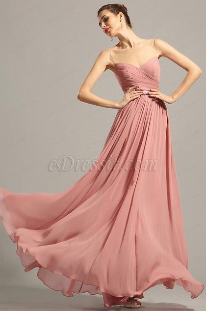 Вечернее Платье Декольте Сердечка Без Рукава(00154846)